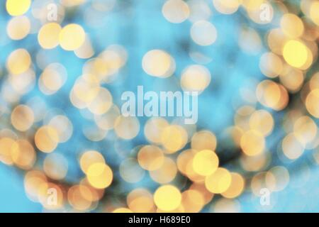 de-focussed slow shutter-speed bokeh - Stock Photo