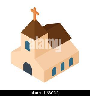 Wedding chapel isometric 3d icon - Stock Photo