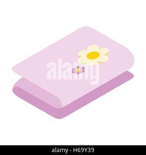 Stack of towels 3d icon - Stock Photo