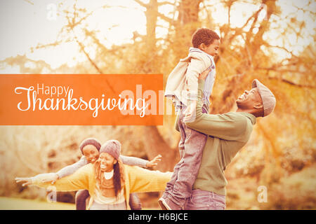 Composite image of thanksgiving greeting text - Stock Photo
