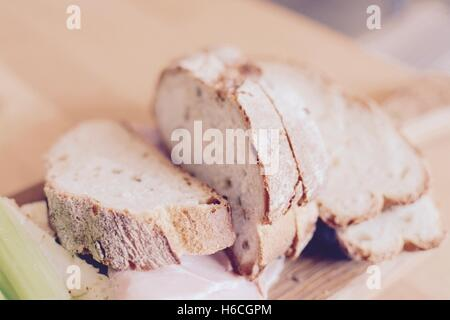 Artisan bread platter - Stock Photo