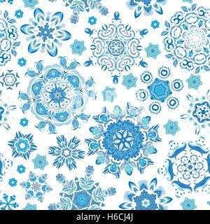 Seamless pattern. Vintage decorative elements. Hand drawn background. Islam, Arabic, Indian, ottoman motifs. Perfect - Stock Photo