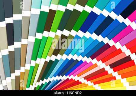 Rainbow Sample Colors Catalog. Color Guide Palette Background. - Stock Photo