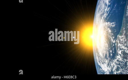 Our earth from outer space - Elements of this image furnished by NASA - Stock Photo
