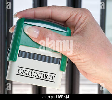 resigned - stamp - Stock Photo
