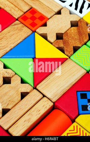 blue house building object education build buildings game tournament play playing plays played colour model design - Stock Photo
