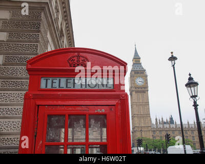 telephone phone city town london traditional box boxes landmark red telephone phone city town blank european caucasian - Stock Photo