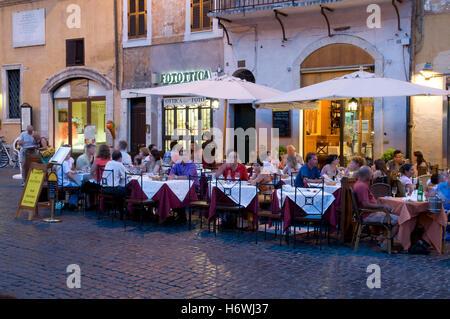Restaurant on the Piazza della Rotonda, Rome, Italy, Europe - Stock Photo