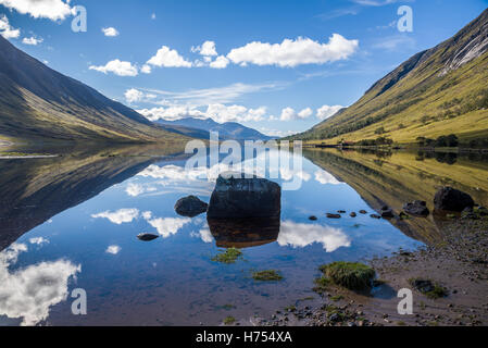 Reflections in Loch Etive - Stock Photo
