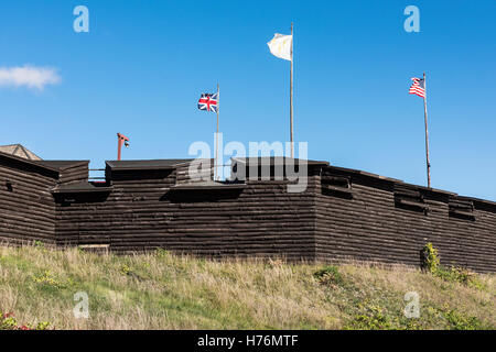 Fort William Henry, Lake George, New York, USA. - Stock Photo