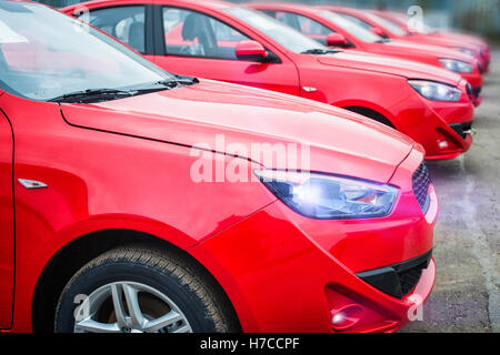 cars with small depth of field - Stock Photo