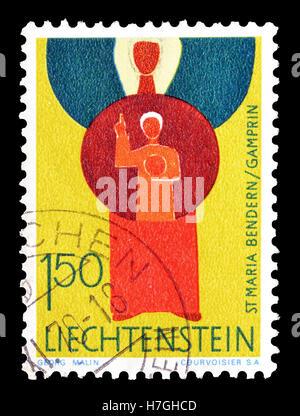 Liechtenstein stamp 1968 - Stock Photo