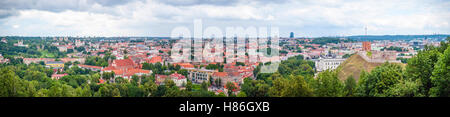 Panorama of Vilnius in summer, capital of Lithuania - Stock Photo