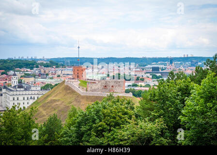 View over Vilnius in summer, capital of Lithuania - Stock Photo