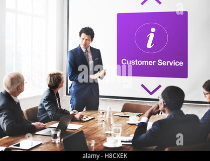 Customer Service Information Icon Concept - Stock Photo