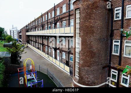 Brighton council flats Milner estate UK - Stock Photo