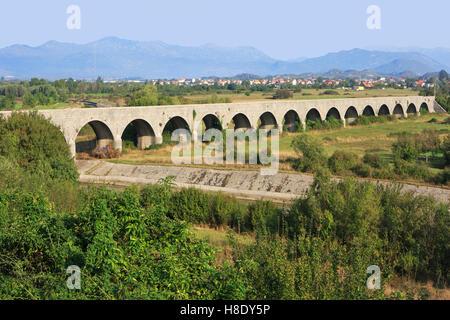 The Tsar's Bridge - Carev Most (1894) near Niksic, Montenegro - Stock Photo