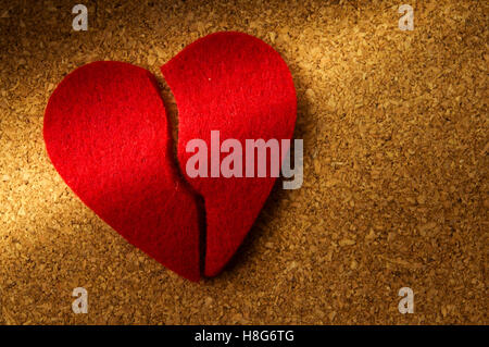 broken heart, concept for divorce, end of relationship, love story finished - Stock Photo