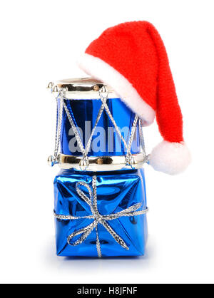 Christmas toys decoration isolated on white - Stock Photo