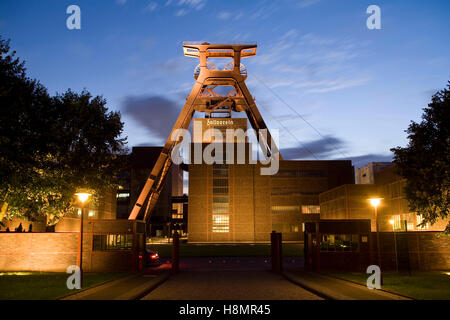 Germany,  Ruhr Area, Essen, industry monument Zeche Zollverein, shaft XII, shaft tower. - Stock Photo