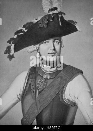 Friedrich Wilhelm Freiherr von Seydlitz was a Prussian officer and one of the greatest German cavalry generals - Stock Photo