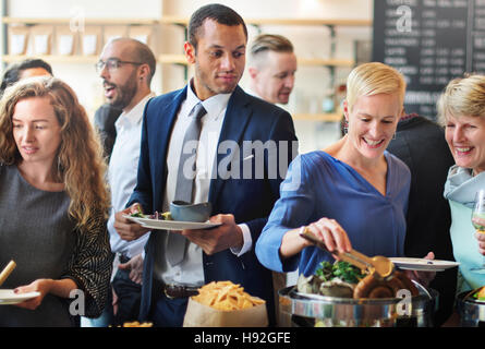 Party Restaurant Eating Launch Brunch Time Concept - Stock Photo