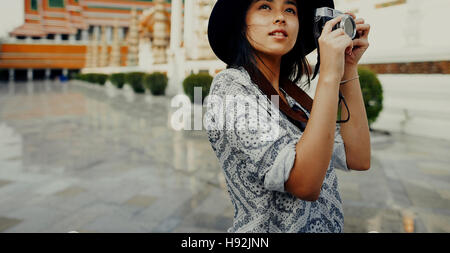 Photographer Travel Sightseeing Wander Hobby Concept - Stock Photo