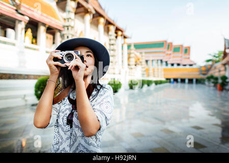 Photographer Travel Sightseeing Wander Hobby Recreation Concept - Stock Photo