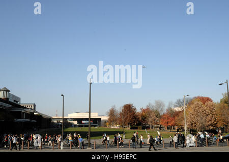 Philadelphia, Pennsylvania, USA. 19th November, 2016. Hundreds participate in ongoing Anti-Trump protests, on Nov. - Stock Photo