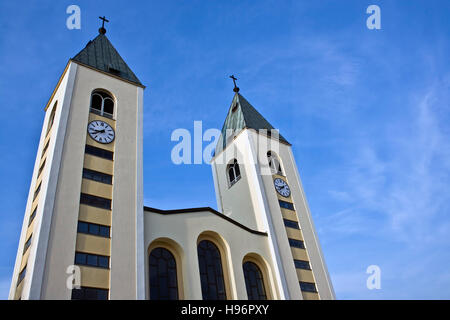 Church in the sanctuary Medjugorje, Bosnia and Herzegovina, Europe - Stock Photo