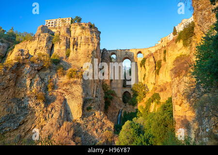 Ronda - Puente Nuevo Bridge, Andalusia, Spain - Stock Photo