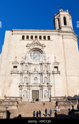 Cathedral of Girona in Catalonia, Spain. - Stock Photo