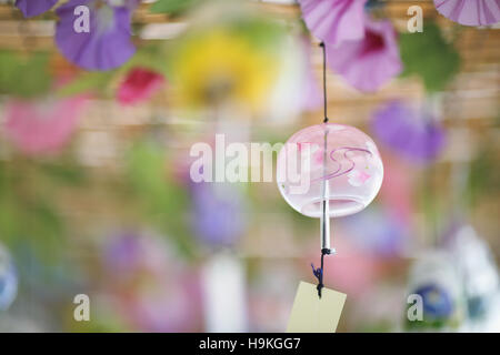 Japanese traditional wind chime - Stock Photo