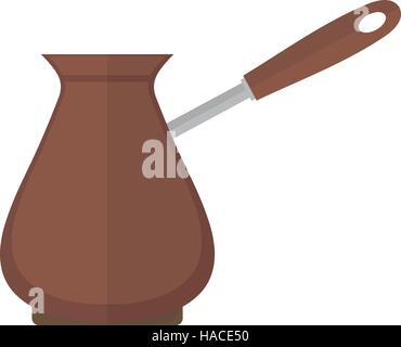 Turk for coffee icon vector flat style. Isolated on white background.  illustration - Stock Photo