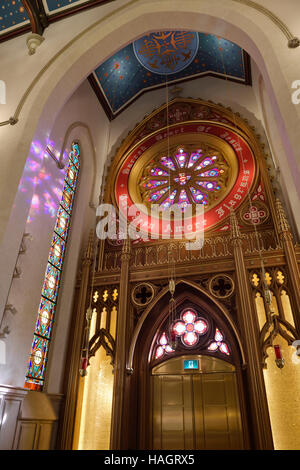 Sacred Heart of Jesus side Chapel in St Michael's renovated Cathedral Toronto - Stock Photo