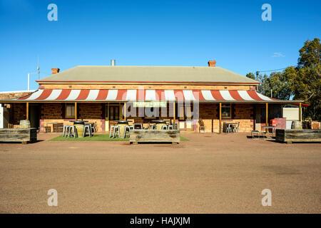 The remote Prairie Hotel in outback Parachilna South Australia - Stock Photo