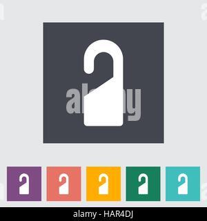 Door tag. Single flat icon. Vector illustration. - Stock Photo