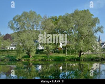 Herchen,River Sieg,Germany - Stock Photo