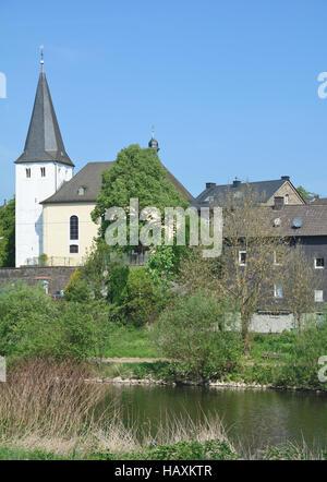 Rosbach at River Sieg,Germany - Stock Photo
