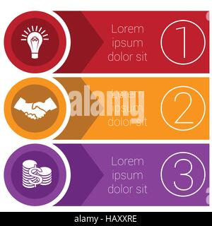 Templates infographics from arrows of circles and strips business concept for three positions. - Stock Photo