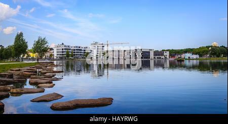 Lake Phoenix in Dortmund - Stock Photo