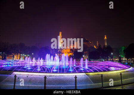 Hagia Sophia mosque in Istanbul - Stock Photo