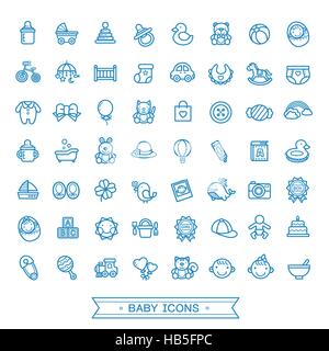 lovely baby related icons collection over white background - Stock Photo