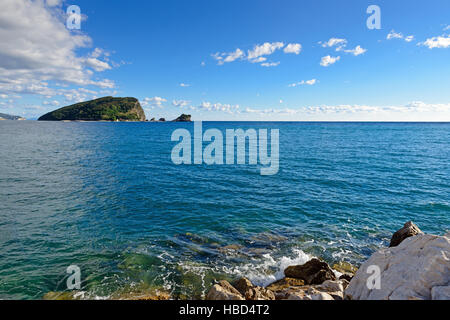 Mediterranean sea landscape near Budva, Montenegro, Europe. - Stock Photo