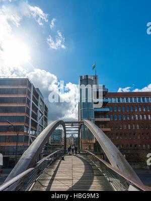 Bridge, Speicherstadt, Hamburg, Germany - Stock Photo