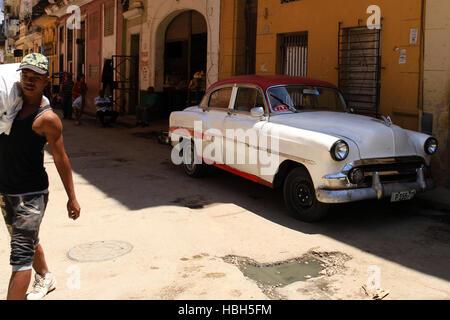 Street scene Havanna, Cuba. - Stock Photo