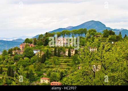 Beautiful view of  countryside near Bergamo in Lombardy, Italy - Stock Photo
