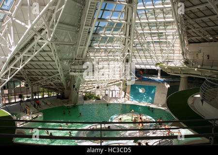 Inside Caldea wellness spa resort. Escaldes-Engordany. Andorra - Stock Photo