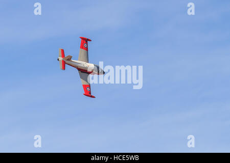 BAC Jet Provost T5, XW324, old fast jet trainer performing at the Southport airshow - Stock Photo