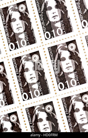 French postage stamps (1990) : 10c, Marianne de Briat - Stock Photo